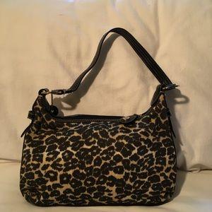 The Sak Leopard Handbag Green Lining Like New